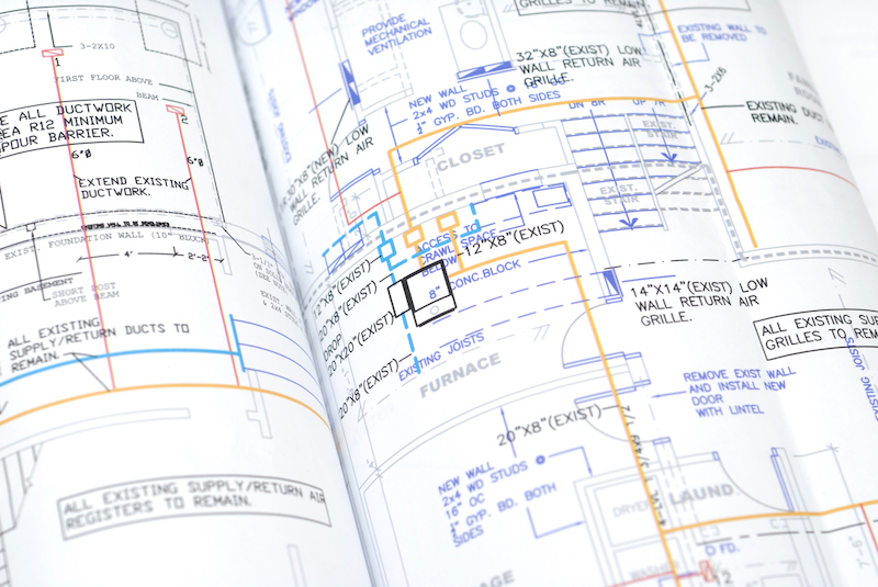 HVAC design blueprints